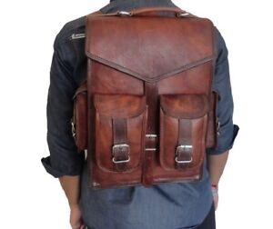 Convertible Small Mini Genuine Leather Backpack Rucksack Shoulder Bag Briefcase