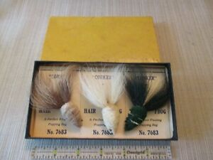 Frost's CORKER HAIR FROG Fishing Lures - 3 on Cards in Dealer Box