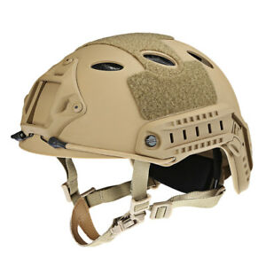 Adjustable Tactical Helmet Airsoft Gear Head Protector With Night Vision Camera
