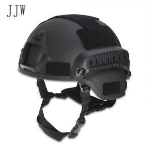 Tactical Helmet Head Protector Airsoft Gear Paintball With Night Vision Camera