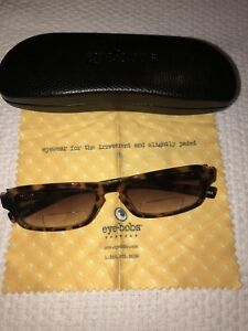 EYE BOBS DESIGNER BIFOCAL SUNGLASSES Tortoise Reader Glasses FRAMES 1.75 Case