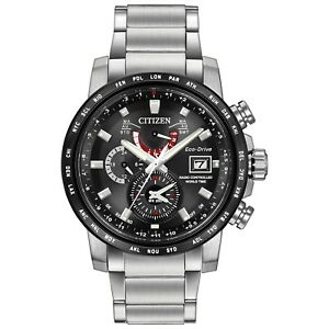 Citizen Eco-Drive Men's AT9071-58E Chronograph Silver-Tone Bracelet 44mm Watch