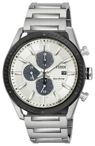 Citizen Eco-Drive Men's CA0668-52A Chronograph Silver-Tone Bracelet 42mm Watch
