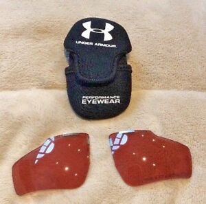 Authentic UNDER ARMOUR Performance Eyewear Rose Color Sunglass Lenses Case NEW $34.99