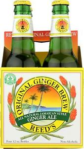 REED#x27;S GINGER BEER REED�S GINGER BREW ORIGINAL Pack of 6 4 12 FZ