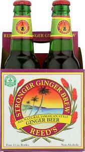 REED#x27;S GINGER BEER REED�S GINGER BREW STRONGER Pack of 6 4 12 FZ