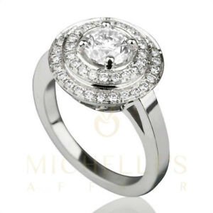 2 12 CT DIAMOND ENGAGEMENT RING SOLITAIRE WITH ACCENTS 14K WHITE GOLD