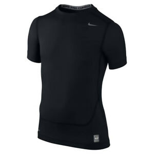 NWT Boys Youth Nike Pro Combat Dri Fit Compression Shirt Black or White M XL $20.99
