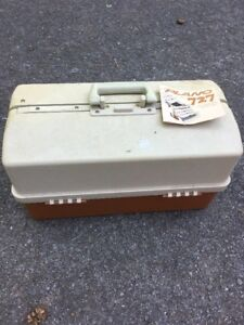 Vintage Rare Plano 727 Fishing Lure Tackle Box 3-Drawer Collectible - New Tags