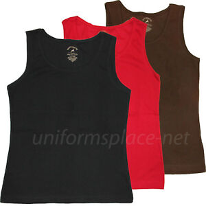 Womens Tank Top Solid Color Cotton Ribbed $4.99