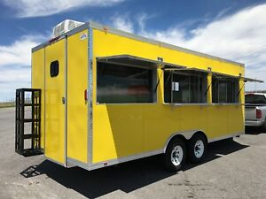 20' x 8.5' CONCESSION FOOD TRAILER RESTAURANT CATERING BBQ DOUBLE AXLE V NOSE