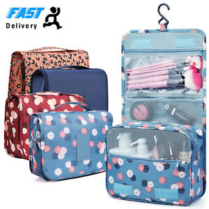 Ladies Wash Bag Toiletry handbag Hanging Travel Case Cosmetic Make Up Pouch Kit GBP 3.95
