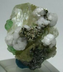 Remarkable Aesthetic Diopside Crystal w Tsavorite Garnet Calcite Pyrite!!!