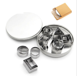 24pcs/set Stainless Steel Fondant Cake Pastry Biscuit Cookie Cutter Sugarcraft