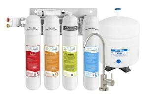 Water Filter Reverse Osmosis Filtration Under Sink Purifier w Faucet MV4 ROLB $209.99