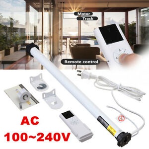 AC 100 240V DIY Electric Roller Blind Shade Roller Tubular Motor Remote Control