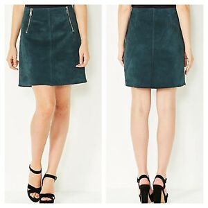Replay @ Kaleidoscope Size S Small 8 10 Navy Suede SKIRT Evening PARTY £160 New