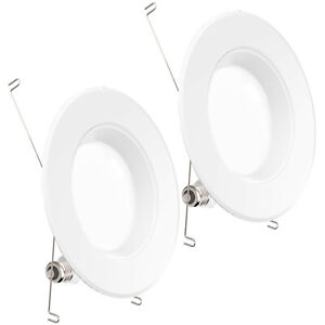 SUNCO 2 PACK 6-INCH RECESSED RETROFIT 13W 965 LUMEN 3000K DIMMABLE BF+D