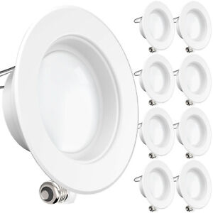 SUNCO 8 PACK 4-INCH RECESSED RETROFIT LED LIGHT 11W 660 LUMEN 2700K DIMMABLE BF