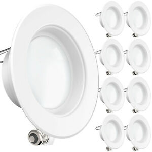 SUNCO 8 PACK 4-INCH RECESSED RETROFIT LED LIGHT 11W 660 LUMEN 3000K DIMMABLE BF