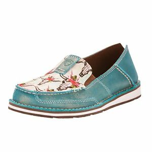 Ariat Women's Turquoise Steers Roses Cruisers 10024767