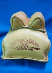 PROTEKTOR MODEL - #14 REAR BAG GUN REST SHOOTING REST MADE IN USA LEATHER