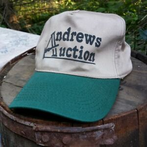 Vintage Auction Snapback Trucker Hat Personalized Name Auctioneer Andrews Cap