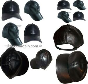 12 New Leather Baseball cap womanmans Leather Hat Head wear  wholesale price bn