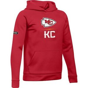 Under Armour Kansas City Chiefs Youth Red Combine Authentic Lockup Armour Hoodie