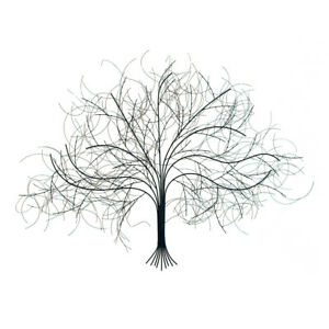 Black Tree Handcrafted Metal Wall Art -Wispy Wire Branches- Large Big Livingroom $54.95