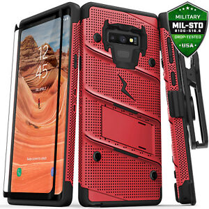 Samsung Galaxy Note 9 case, Zizo BOLT with Screen Protector, Holster