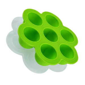 Cake Mold 7-Grids Egg Soap Flexible Silicone Round Moulds For Candy Green