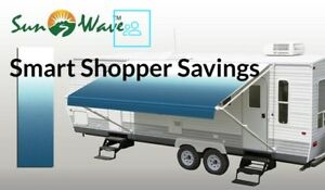20#x27; RV Camping Trailer Camper Awning Replacement Fabric Canopy Sun Shade Shelter