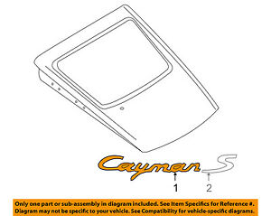PORSCHE OEM Cayman Liftgate Tailgate Hatch-Emblem Badge Nameplate 98755923904