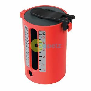 Flow Measure Cup Red Impact-Resistant Abs Construction 2.5-22Ltr12-5 Gallons