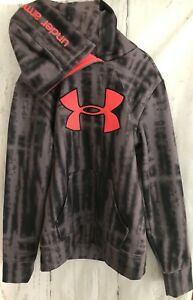 Under Armour Hoodie Girls Youth Big UA Logo Sports Active Wear Jacket Gray Pink
