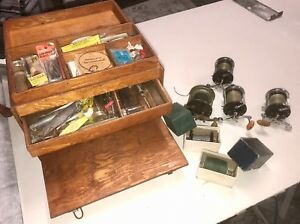 Vintage Tackle Box Full of Old Lures PENN Reels and all sorts of Fishing Gear