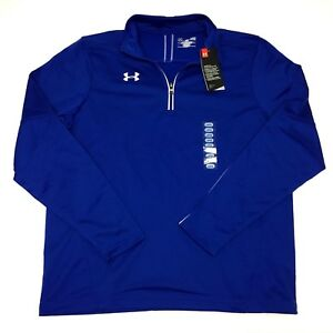 Under Armour 1273917 UA Mens Loose Fit Qualifier 14 Zip Pullover Shirt Top