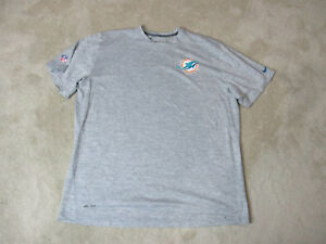 NIKE Dan Marino Miami Dolphins Shirt Adult 3XL XXXL Gray Player Issue Dri FIt