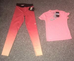 Girls Nike Pro Hyperwarm Leggings & Girls Nike Dry Fit T Shirt Set Or Separate