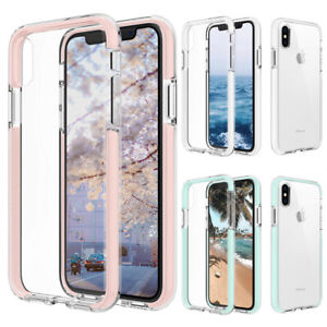 For iPhone 12 Pro Max mini 11 XR 7 8 Plus XSMax Case Clear Cute Shockproof Cover