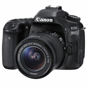 Canon EOS 80D 24.2MP Digital SLR Camera With EF-S 18-55mm f3.5-5.6 IS STM Lens