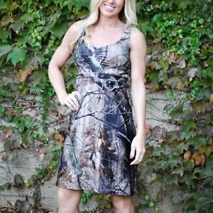 Camo Maxi Dress Long Camouflage Dress Wedding Bridesmaid Dress Plus Size USA