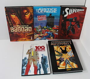 FRENCH Hardcover Books Lot Justice League 100 Bullets Superman The Authority
