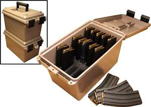 MTM Tactical Mag Can Magazine Storage Ammo Box Water Resistant 223 5.56 TMC15