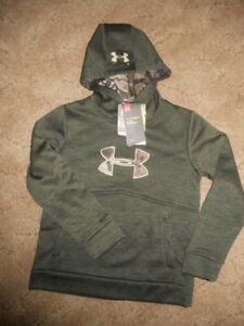 Under Armour Youth Boys Girl Small Barren Camo Hoodie Sweatshirt ColdGear NEW