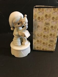 Precious Moments Musical Figurine 15504 Tune- We wish you a Merry Christmas