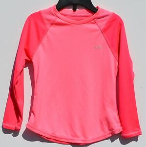 CHAMPION Girls' Youth Size XS4-5 Semi-Fitted Duo Dry Max Pink on Pink Shirt