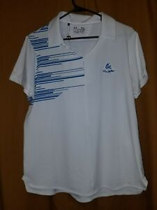 New UNDER ARMOUR Women's XL White Loose Fit Heat Gear Polo Golf Shirt Ex. Large