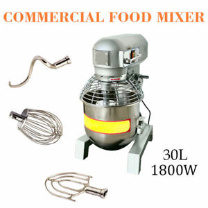 30Qt Commercial Dough Food Mixer 2.4HP Gear Driven Bakery Blender [Self Pick Up]